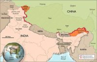 Chinese map including Aksai Chin and Arunachal Pradesh as Chinese territory.