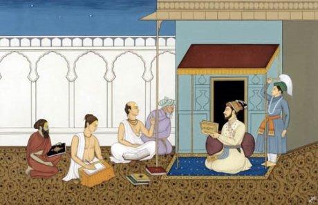 Prince Dara Shikoh translating the Upanishads.