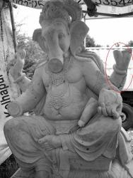 Broken Ganapati image in Goa