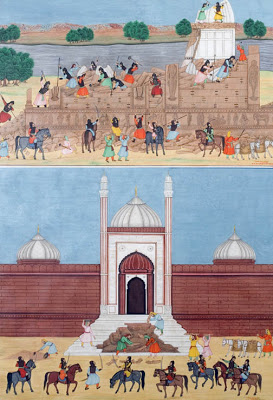 Demolition of the Keshava Rai Temple at the Krishna Janmabhumi, Mathura