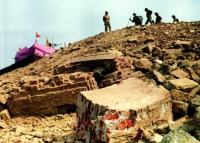 Ram Temple built on the Babri Masjid site after the demolition.