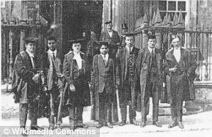 Srinivasa Ramanujan (centre) at Cambridge