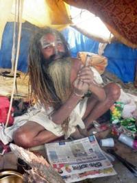 Sadhu smoking ganja