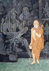 Kanchi Mahaswami with Kamandalu