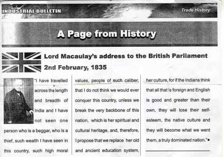 Macaulay's infamous minute is a forgery