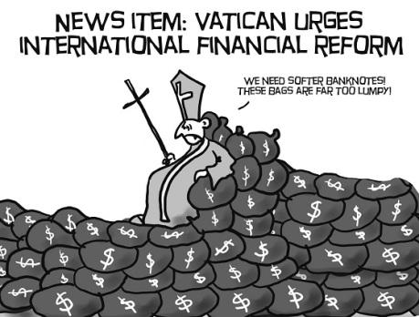 Pope urges international financial reform!