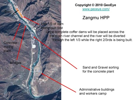 Chinese are building dams across the Brahmaputra in Tibet