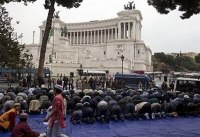 Muslims demonstrate in Rome demanding more money from the 'dhimmi' government!