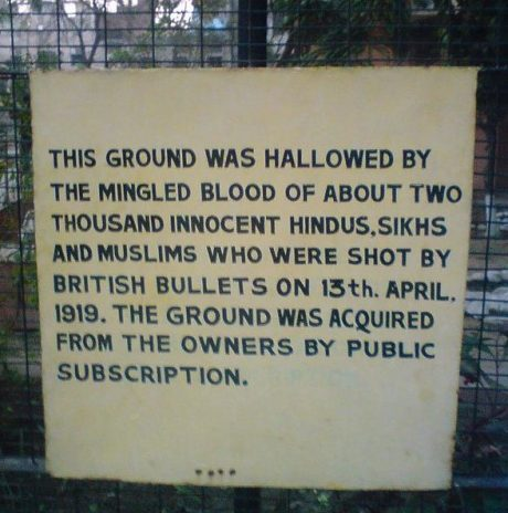 Sign at Jallianwala Bagh