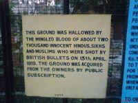 Sign at Jallianwala Bagh
