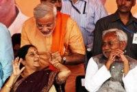Sushma Swaraj, Narendra Modi & Nitesh Kumar