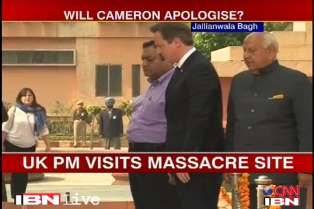 UK PM Cameron at Jallianwala Bagh