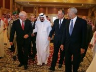Saudi King Abdullah with Dick Cheney & George H.W. Bush