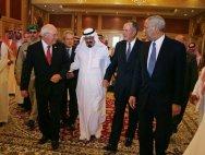 Saudi King Abdullah with Dick Cheney & George H.W. Bush