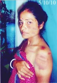 Bangladeshi Hindu woman victim.