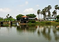 Bridge over lagoon Jaffna area.