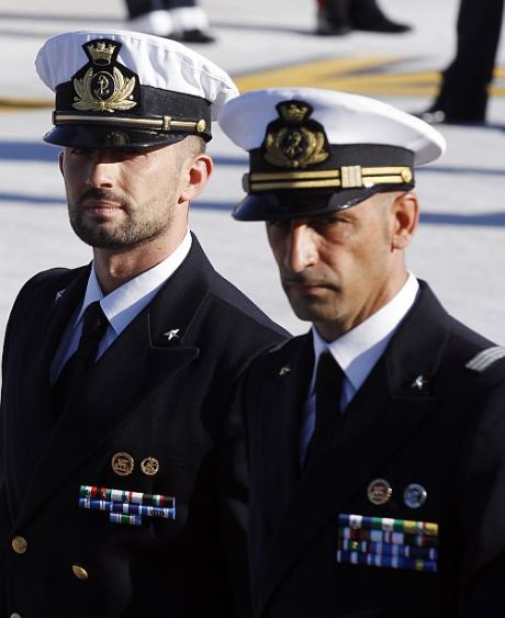 Italian marines charged with murder in India.