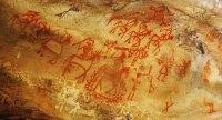 Bhimbetka cave paintings made around 30,000 BCE