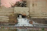 Sewer emptying into the Ganga