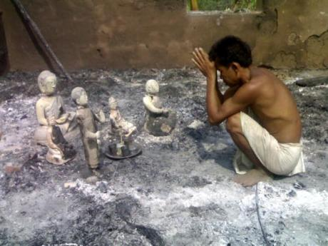 Buddhist temples and villages burned in Bangladesh.