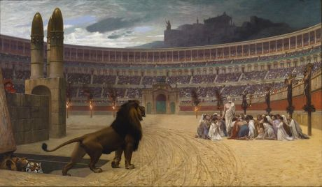 The Christian Martyrs' Last Prayer by Jean-Léon Gérôme