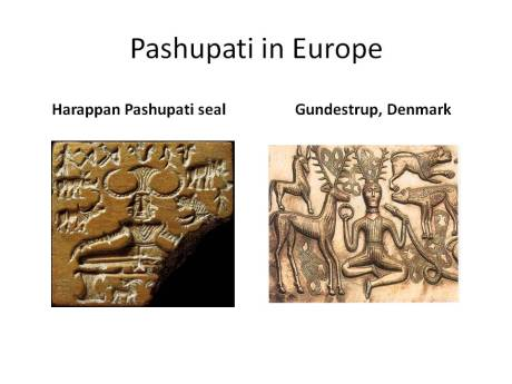 Pashupati: Harappan seal and Gundustrup cauldron in Denmark