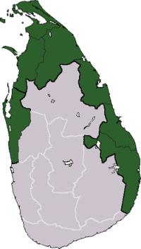 Tamil Eelam territorial claim on Sri Lanka