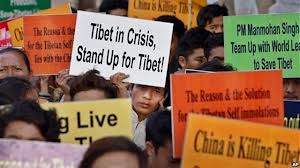 Tibetans protest in New Delhi