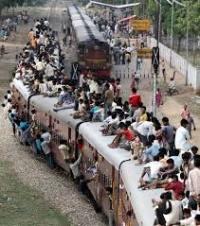 Passenger train in India