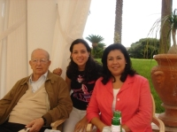 Fr. Maciel with his mistress and daughter at his exclusive residence in Florida.
