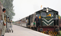 Thar Express entering Zero Point Station