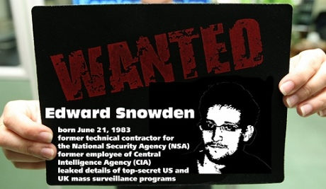 Edward  Snowden Wanted Poster