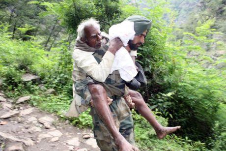 Indian Army pilgrim rescue in Uttarakhand.