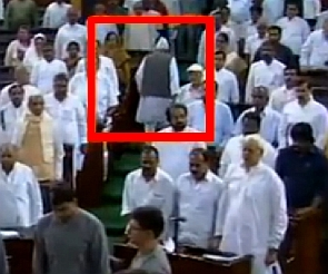 Bahujan Samaj Party MP Shafiqur Rahman Burq walking out as Vande Mataram is played in the Lok Sabha