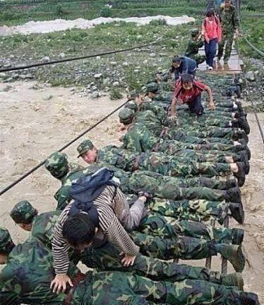 Army man bridge in Uttarakhand