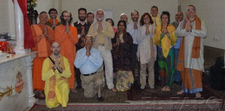 A Hindus gathering in Madrid