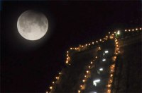 Full moon over Arunachaleshwar Temple
