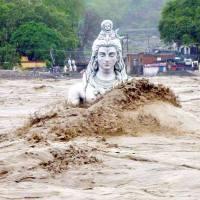 Shiva in the Ganga at Rishikesh