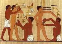 Circumcision in Egypt: It is a curious fact that the Jews and Muslims have made the Pagan practice a central rite in their religions.