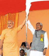 Narendra Modi & Nitish Kumar (now divorced).