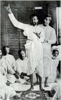 Sri Ramakrishna in samadhi.