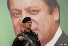 Pakistan PM Nawaz Sharif is overshadowed by the army.