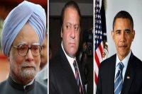 Manmohan Singh, Nawaz Sharif & Barak Obama