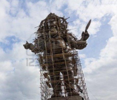 Ganesh image under construction in Thailand