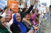 UK Hindus demonstrate against caste discrimination.