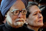 Nominal Prime Minister Manmohan Singh and Real Prime Minister Sonia Gandhi