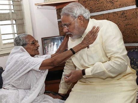 Narendra Modi and his mother Heeraben