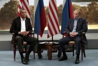 Obama & Putin: Sour faces!