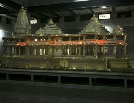 Sri Ram Temple Model
