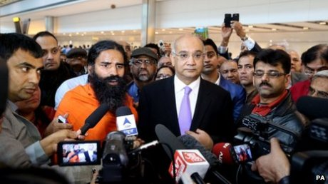 Baba Ramdev & British MP Keith Vaz